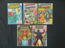 JUSTICE LEAGUE OF AMERICA #22 44 51 57 65 5 ISSUE DC SILVER AGE LOT CRISIS