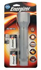 Energizer 2D Metal Light Handheld 100 Lumens Textured Grip Batteries Included