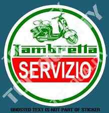 SCOOTER LAMBRETTA SERVIZIO DECAL STICKER SUIT MOPED LAMBRETTA MOD ROCKER RIDE