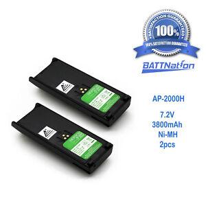 2X 3800MAH NTN7143 NTN7144 Battery for MOTOROLA HT1000 MTS2000 MT2000 MTX9000