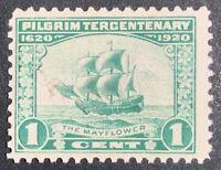 Travelstamps: 1920 US Stamps Scott # 548, The Mayflower, mint, og, mnh, see pics