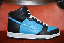 NEW NIKE DUNK HIGH Black GLASS BLUE white 317982 014  MENS SHOES MENS SIZE 9