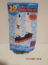 3-D Pirate Ship Foamies Craft Kit Easy To Make, Just Add Glue NEW SEALED PAK FSP