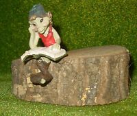 ZAMBIASI - Pixie da mensola c/libro - cm. 7,5h