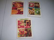 Set of 3 Betty Crocker Recipe Card Salad, Seasonal, American Classic 1971