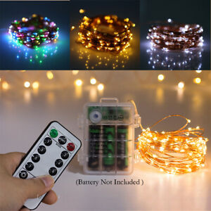 LED Battery Fairy String Lights Micro Outdoor Xmas Remote Control Wedding Party