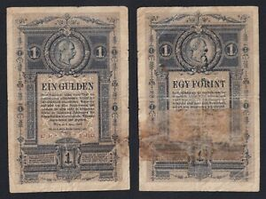 Austria 1 gulden 1882 Pick A153  MB/F  A-04
