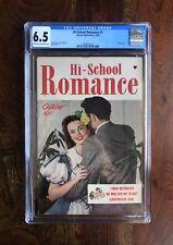 HI-SCHOOL ROMANCE #1 CGC 6.5 (10/49) HARVEY PUBLICATIONS GOLDEN AGE GEM!