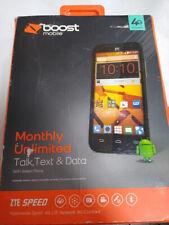 New Boost ZTE SPEED 4G LTE Cell Phone Smartphone Wireless