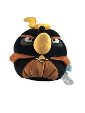 NWT Commonwealth Angry Birds Space Plush Fire Bomb Black Bird (Medium) Plush