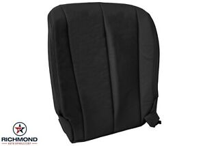 For 2005 Nissan Murano - Driver Side Bottom Replacement Leather Seat Cover Black