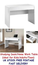 Studying Desk White Home Table Kids Study Desks For Students School Teen Office