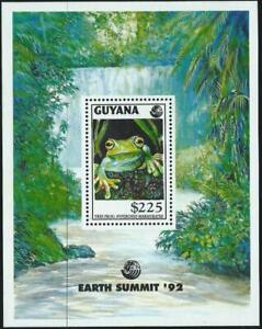 GUYANA - 1992 'EARTH SUMMIT - FROGS' Miniature Sheet MNH [A3660]