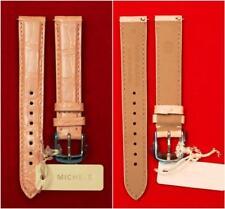 Michele 16MM PEARL PINK Watch Band Strap Genuine Alligator Skin