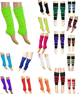 Girls Ladies Leg Warmers Dance Party Fancy Dress 80s Rave Clubbing Ballet Tutu