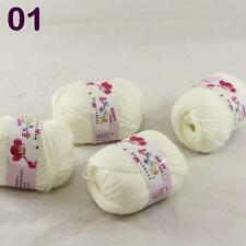 4balls  50g Cashmere Silk Wool Children hand knitting Baby Yarn off White 18_01