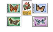 BRC0035 Butterflies 5 stamps MNH DIFFERENT