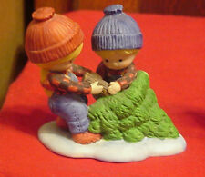 Enesco Country Cousins Katie & Scooter pulling Christmas Tree