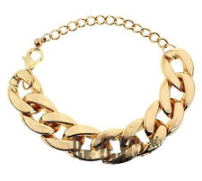 Fashion Jewelry Bracelet Women Men Adjustable Crystal Chunky Link Bangle Chain