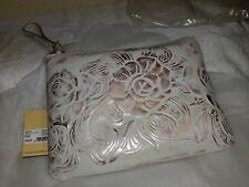 Patricia Nash Cassini Zip Wristlet/Clutch White NWT Wallet Italian Leather