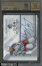 2006-07 SP Authentic SOgn Of The Times Wayne Gretzky HOF AUTO BGS 10