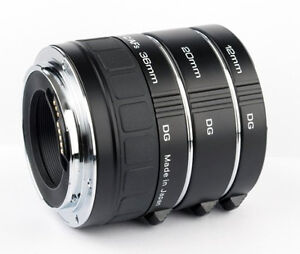 Kenko Auto Extension Tube Set DG 12 20 36mm For Canon EOS Lenses A-EXTUBEDG-C