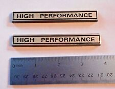 "High Performance  4"" wide  black plastic with Chrome  emblem emblems badge new"