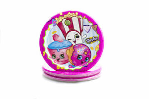 """Shopkins 6 3/4"""" Plates Paper Goods Birthday Supplies 8 count"""