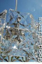 70er Jahre Kristall  Leuchte Lampe   Hängelampe Kinkeldey 70s
