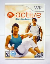 WII ACTIVE: MORE WORKOUTS Nintendo Wii Game COMPLETE w/MANUAL 2009