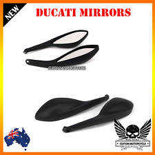2x Black E-mark Rear View Side Mirrors Ducati Monster 696 08-2013 09 10 11 12