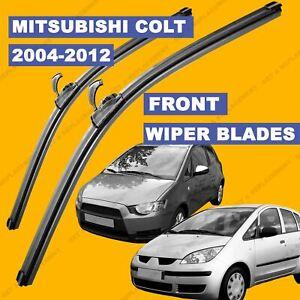 U-hook Front set Wiper Blade For Mitsubishi Colt 04-12 54 55 56 57 till 08 reg