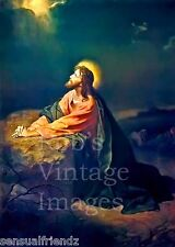 Jesus Christ in the Garden of Gethsemane Sacred picture of the Savior Poster
