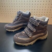 LL Bean Tek 2.5 Waterproof System Women's Brown Hi-Top Hiking Straps Boots Sz 6
