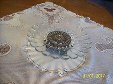 Regency Silversmith #40 Pedestal Ornate Vintage Crystal Cake Plate