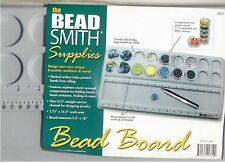 """BeadSmith Large Flocked BEAD BOARD 9.5"""" x 18"""" Organizer Tray w/ 18 compartments"""