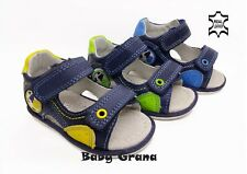 Baby Boy First Leather Sandals Orthopedic Sole Leather Insole UK size 3 to 7