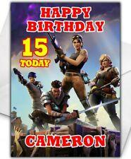 Fortnite Birthday Card - Personalised - Son Grandson Brother Boy Children - D3