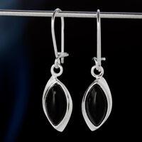 Onyx Silber 925 Ohrringe Damen Schmuck Sterlingsilber H522