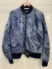 NWT G Star Raw Medium Blue Camo Bomber Jacket