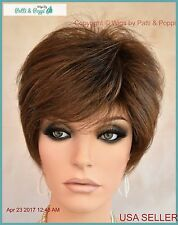 Synthetic Short Hair Wig for Women  COLOR Ginger  Brown  CUTE STYLE 1178