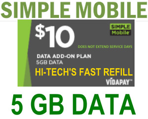 $10 SIMPLE MOBILE 🔥 DATA ADD-ON 🔥 >> FASTEST🔥 DIRECT TO YOUR PHONE FAST!