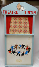 Old Tintin Snowy Calculus Thompson hand puppet theatre + five puppets