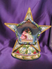 """Jim Shore """"Winter's Miracle"""" Quilt Pattern Lighted Silent Star Nativity Scene"""