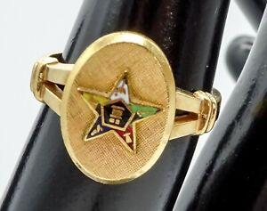 Vintage 10k Gold Filled Eastern Star Ring Size 6.5