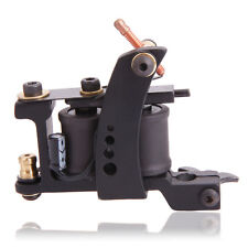 Pro Iron Casting 10 Wrap Coils Liner Tattoo Machine Gun Black XHJ001A