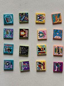 16 ORIGINAL Lego parts - LEGO VIDIYO 2x2 printed parts - set 004