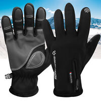 -10℃ Winter Thermal Ski Gloves Touchscreen Zipper Snowboard Waterproof Motocycle