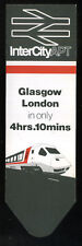 1984 Official INTERCITY APT Bookmark GLASGOW to LONDON Railway BRITISH RAIL BR