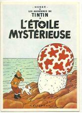 RARE / CARTE POSTALE - TINTIN ET MILOU : L' ETOILE MYSTERIEUSE / POSTCARD